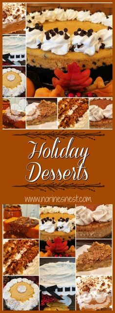 I'm rounding up all my favorite Holiday desserts in one place! Just in time for Thanksgiving ! Which one is your favorite? Best Thanksgiving Recipes, Thanksgiving Side Dishes, Thanksgiving Desserts, Christmas Desserts, Fall Recipes, Sweet Recipes, Holiday Recipes, Southern Recipes, Christmas Baking