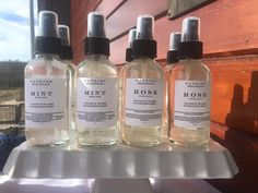 Mint and rose coconut water facial mists