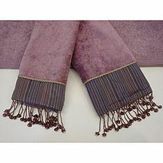 Check out the Sherry Kline Silk Strie Purple 3 piece Decorative Towel Set Purple Bedding, Purple Pillows, Twin Xl Sheets, Decorative Hand Towels, Purple Chair, Queen Comforter Sets, Bedding Sets, Linen Store, Dorm Bedding