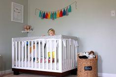 Ashlynn's Little Room with Babyletto Modo Crib and sweet little Ashlynn! Toddler Rooms, Baby Boy Rooms, Baby Cribs, Baby Room Decor, Nursery Decor, Nursery Ideas, Nursery Neutral, Mint Nursery, Newborn Nursery