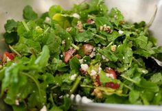 Arugula and Strawberry Salad with Creamy Poppy Seed Dressing, Wholeliving.com #lunchbunch