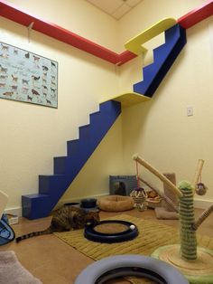 Cat shelves and stairs design. #cats #CatStairs #CatShelves