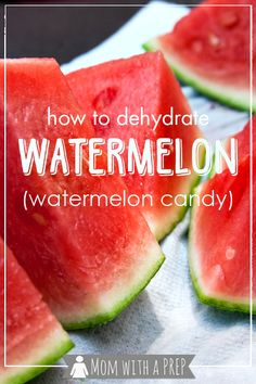 Mom With A Prep Overloaded With The Yummy Goodness Of Watermelon This Summer? Figure out how To Make Watermelon Candy Dehydrated Watermelon Dehydrated Watermelon, Dehydrated Food, Dried Watermelon, Dehydrated Apples, Dehydrated Vegetables, Fruit Recipes, Real Food Recipes, Yummy Food, Watermelon Recipes