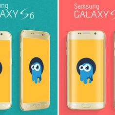 mock-ups samsung galaxy S6 and S6 Edge