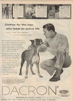 Vintage ad with boxer