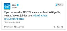 als je veel sollicitaties binnen wil krijgen, zorg dan voor een catchy twittertekstje...