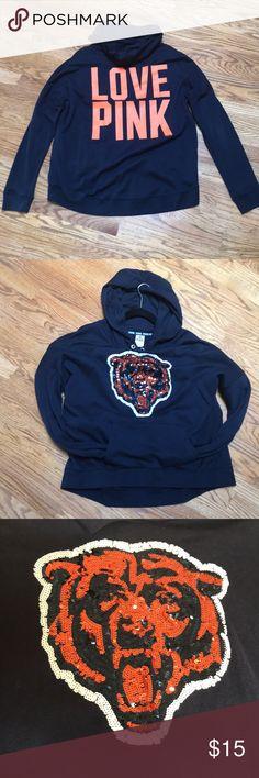 VS Pink Chicago Bears hoodie size Large VS Pink Chicago Bears hoodie size Large PINK Victoria's Secret Tops Sweatshirts & Hoodies