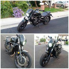 """kawasaki vulcan 650s + """"TKSPEED motorcycle Headlight Plastic Front Visor For Harley 883"""" (aliexpress) http://www.vulcanforums.com/forums/130-vulcan-650-s/174169-mods-27.html"""