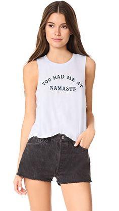SPIRITUAL GANGSTER You Had Me At Namaste Cropped Tank. #spiritualgangster #cloth #dress #top #shirt #sweater #skirt #beachwear #activewear