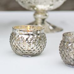 Silver Votive Holder | Silver Wedding Decorations | Easy Return Policy