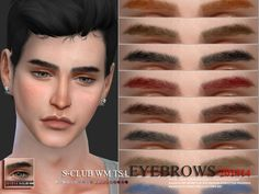 The Sims Resource: Eyebrows 201814 by S-club Sims 4 Body Hair, Sims 4 Hair Male, Sims Hair, Sims 4 Male Clothes, Male Hair, Sims 3, Sims 4 Teen, Sims 4 Toddler, The Sims 4 Skin