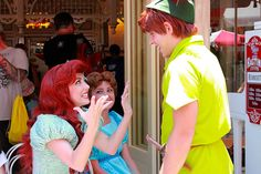 """Ariel and Peter are all, """"OMG, A FELLOW GINGER!"""" and Wendy's like, """"Girl, you better get away from my man if you know what's good for you"""""""