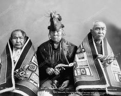 Three Brothers Of The Chilkat Tribe 1907 Vintage 8x10 Reprint Of Old Photo