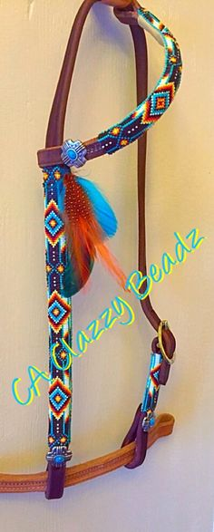 Beaded headstall horse tack from CA Clazzy Beadz. Find us on Facebook!