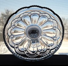 Antique EAPG 1904 GALLOWAY Crystal Victorian Pedestal Cake Stand Salver by U.S. Glass Company