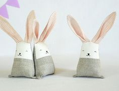 Blush coral bunny rabbit toys, linen stuffed baby toy, gift for new mom baby shower basket Rabbit Toys, Bunny Rabbit, Bunny Toys, Bunnies, Softies, Diy Laine, Baby Shower Baskets, Tilda Toy, Crib Toys