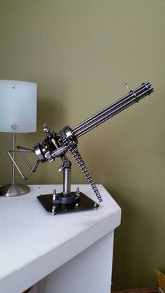 -scrap-metal-art-mini-gun custom made gun art