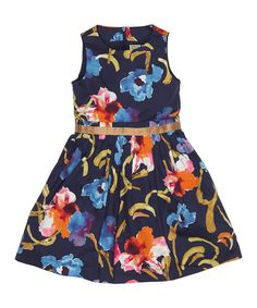 A classic A-line design and bright floral print make this dress classic on every fashionable girl. Soft cotton fabric and a back zip closure ensure a look that's both smart and easy to wear during every day's adventures.100% cottonMachine washMade in Bulgaria