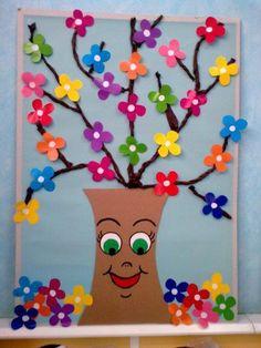 Spring Craft Ideas for Kids - Preschool and Kindergarten preschool spring crafts Craft Activities, Preschool Crafts, Easter Crafts, Christmas Crafts, Free Preschool, Spring Crafts For Kids, Summer Crafts, Art For Kids, School Door Decorations