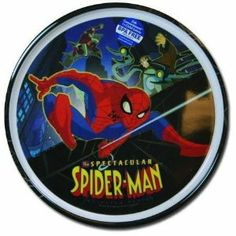 """Spectactular Spiderman Plate - Boys Plastic Plate by Zak Designs. $6.40. 8"""" Round Plastic PlateFood SafeGoes Great with Spiderman Untensil Set (not included)"""
