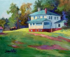 "Landscape Artists International: North Carolina Landscape Oil Painting ""Midday In Ironduff"" by Georgia Artist Deanna Jaugstetter"