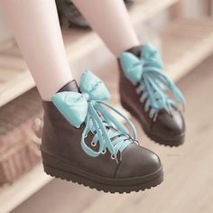 Taobao Lolita lolita girls winter boots Martin boots lovely princess lace butterfly knot shoes university Studentszvxnturrkhm from English A. Bow Shoes, Bow Sneakers, Cute Shoes, Me Too Shoes, Kawaii Fashion, Lolita Fashion, Cute Fashion, Fashion Shoes, Kawaii Shoes