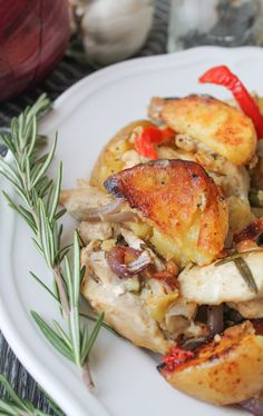 Roast chicken and potatoes using just one pan with this recipe from The Honour System. Toss with simple ingredients like rosemary and garlic, then bake 'till tender and crispy. Serve this dish for ...