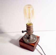 Edison Glass Cloche Table Lamp | Bulbs, Industrial and Glass