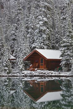 Water is colder and attracts mosquitos. Sure is pretty though. (Rustic Cabin of Lake O'Hara Lodge in Snow**)