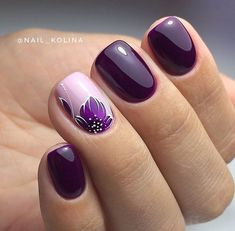 Stylish Nail Art Design & Images Easy to do at Your Home - Naildesign Fullcover . - Stylish Nail Art Design & Images Easy to do at Your Home – Naildesign Fullcover – - Winter Nails, Spring Nails, Summer Nails, Nail Art Designs Images, Square Nail Designs, Stylish Nails, Trendy Nails, Purple Nail Art, Purple Glitter
