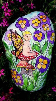 Hand-Painted Fairy Rock