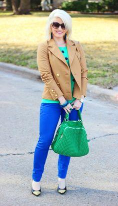 Royal Blue and Green