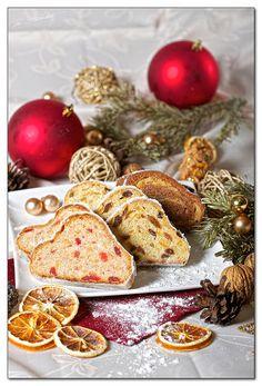 Christstollen (German Christmas Bread)  link to recipe for Stollen: http://www.kitchenproject.com/german/recipes/Stollen/index.htm