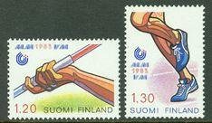 Finland - F VM i friidrott, spjut, löpning, 2 kpl ** Finland, Vm, Stamps, History, Seals, Historia, Postage Stamps, Stamp
