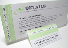 COOL....Their destination wedding was to my home town, St. Thomas, VI./ | Boarding pass wedding invitations | Digby & Rose Invitations DC
