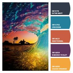 Instantly turn any picture into a palette with ColorSnap, created for you by Sherwin-Williams. Color Schemes Colour Palettes, Colour Pallette, Color Combinations, Beach Color Palettes, Decoration Palette, Color Balance, Colour Board, Color Swatches, Color Theory
