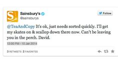 Sainsbury's Wins At Twitter With Epic, Pun-Filled Conversation