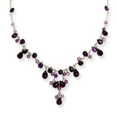Genuine .925 Sterling Silver Amethyst and Lavender Quartz Necklace. 100% Satisfaction Guaranteed. Mireval. $71.95. Genuine .925 Sterling SilverProduct.. Ships From the United States.. 100% Satisfaction Guaranteed.. Save 57% Off!
