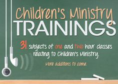 Calvary Curriculum | Children's Ministry Trainings  Lots of audio training sessions for all age groups and parents