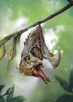 ArtStation - Hatching, Thanh Tuấn Forest Creatures, Curious Creatures, Alien Creatures, Magical Creatures, Fantasy Creatures, Fantasy Dragon, Fantasy Rpg, Dragon Art, Dark Fantasy