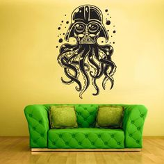 darth vader octopus wall decal