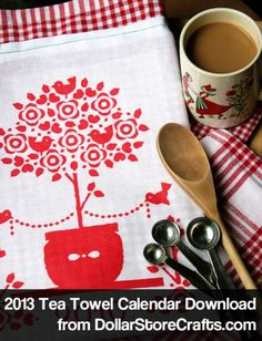 Free Printable Calendar Tea Towel – 2013 Download