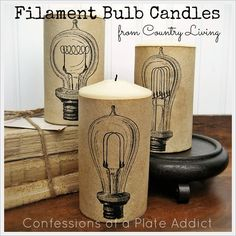 CONFESSIONS OF A PLATE ADDICT Frenchy {Aged Paper} Candle Wraps