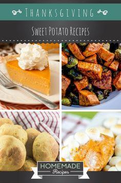 15 Thanksgiving Sweet Potato Recipes | http://homemaderecipes.com/thanksgiving-sweet-potato-recipes/