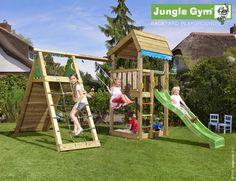 Jungle Gym Home med Climb Module Xtra ekskl. rutsjebane | Køb online på Føtex.dk