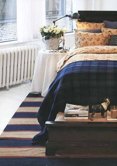 like the mix of florals with plaids and stripes (Leximgton Company catalogue via EclecChic)