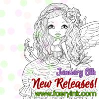 New Releases  Autumn Rose Cupid & Fable and the Snow Pirate #digitalstamps #coloringpages #fairies