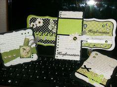 Lime grønne konfirmationskort