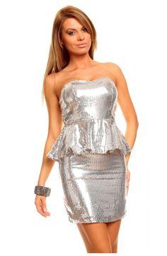 Peplum Kjolen fåes også i sølv. Hvilken farve elsker du mest? http://youshoe.dk/toj/597-glitter-peplum-dress.html