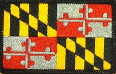 MARYLAND STATE Flag Patch With VELCRO Brand Fastener MC B...